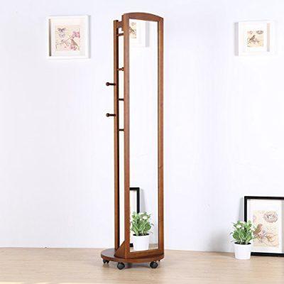 Vlush Multifunctional 360°Swivel Wooden Frame 69'' Tall Full Length Mirror