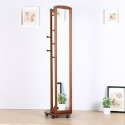 Vlush Multifunctional 360°Swivel Wooden Frame 69'' Tall Full Length Mirror