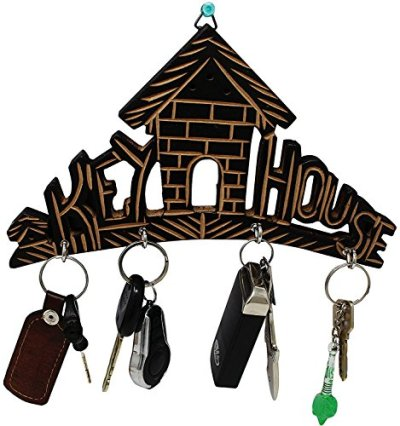 Tanish Trading Wooden Key House,Best Wall Key Holder,Key Holder,Wooden Key House with 4 Hook,Key Holder for Home Wooden Wall Mounted Key Rack Hanger