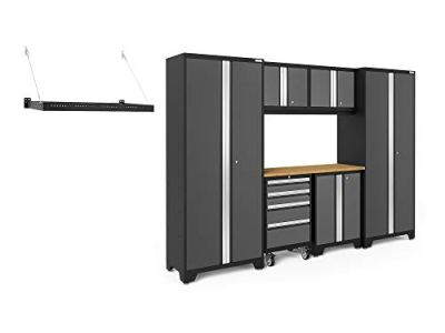 NewAge Products Bold Series 3.0 Gray 7 Piece Set, Garage Cabinets