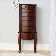 Hives & Honey Amber 6-Drawer Walnut Jewelry Armoire