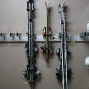 SKI KEY Ski Wall Rack - Includes 5 Locks
