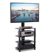 TAVR 4-Tiers Media Component TV Stand with Swivel Mount Audio Shelf
