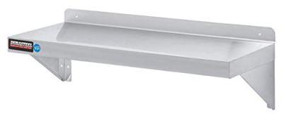 "Stainless Steel Wall Shelf by DuraSteel - 36"" Wide x 12"" Deep Commercial Grade"