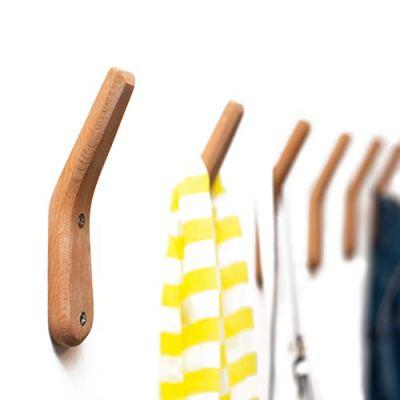 Coat Rack Hooks UMZi Wall Mounted Handmade Beech Wood Hook