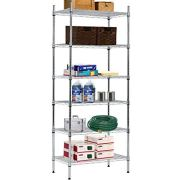 "Wire Shelving Unit Storage Shelves NSF Heavy Duty Office Bathroom Kitchen Adjustable Metal Shelves Rack with Leveling Feet 14"" x 24"" x 60"" 6 Tier Shelf Commercial Grade Utility Garage Shelving"