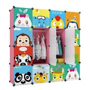 KOUSI Portable Kids Wardrobe Closet Children Dresser Hanging Storage Rack