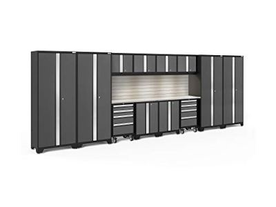 NewAge Products Bold 3.0 Gray 14 Piece Set, Garage Cabinets