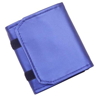 Nupuyai Travel Jewelry Roll Bag for Necklaces Earrings Bracelets Rings Portable Storage Holder, Purple Blue, Small