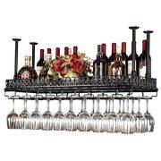 FURVOKIA Industrial Metal Vintage Bar Wall-Mounted Wine Racks