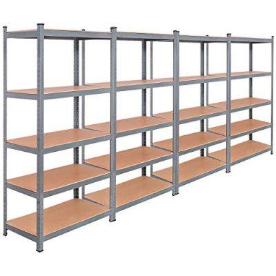 TANGKULA 5-Tier Storage Shelves Space-Saving Storage Rack Heavy Duty Steel