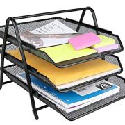 Greenco Mesh 3 Tier Document, Letter Tray, Desk Organizer