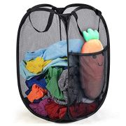 Reinforced Mesh Pop-Up Laundry Hamper, Portable Durable Handles