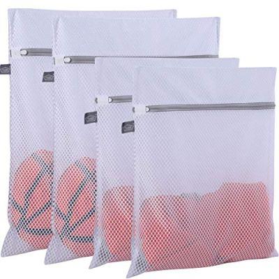 Extra Large Honeycomb Mesh Laundry Bag- Pack of 4 (2 Extra Large + 2 Large )