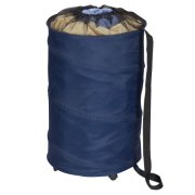 Household Essentials Pop-Up Laundry Hamper on Wheels with Drawstring Closure