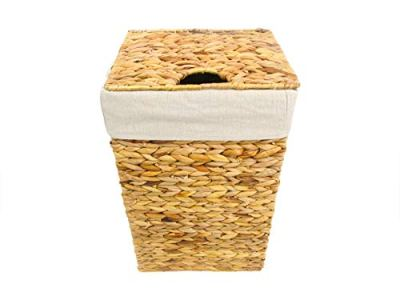 Trademark Innovations Wicker Laundry Hamper Basket with Lid and Liner