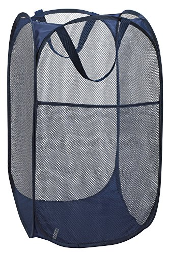 Mesh Popup Laundry Hamper - Portable, Durable Handles, Collapsible for Storage