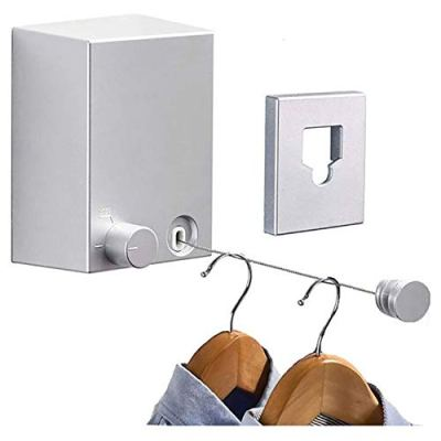 Retractable Clothesline Adjustable 13.8 Feets Stainless Steel Rope