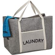 HOMEST Laundry Tote Bag, Large Heavy Duty Dirty Clothes Hamper