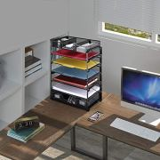 Simple Trending 3-Trays Stackable Office Desk Supplies Organizer