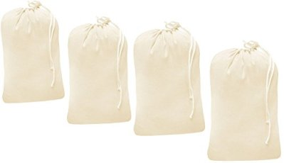 Linen Clubs Heavy Duty Cotton Canvas Laundry Bag, Set of 4 Bag Natural color-24x36 - This is Draw Strings Laundry Bag & Durable.Long Term Solutions for Laundry carring Needs Offered
