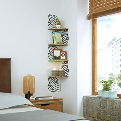Alsonerbay Cactus Corner Stand, Corner Shelf, Home Decor Corner Shelves