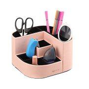 Vlando VPACK Magnet Desk Organizer - PU Leather Pencil Cup Holder