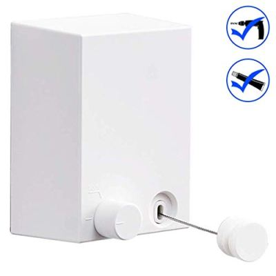 ELLO&ALLO Adhesive Retractable Clothesline with Adjustable Stainless Steel