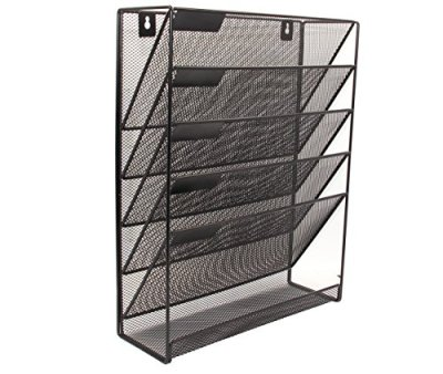 Superbpag Hanging File Organizer, 6 Tier Wall Mount Document Letter Tray