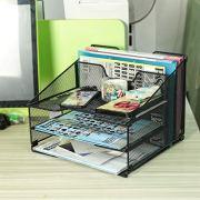 Samstar Mesh Desk File Organizer Letter Tray Holder, Desktop File Folder Holder