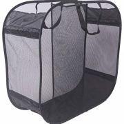 Amelitory 2 Compartment Mesh Pop-up Laundry Hamper for Home