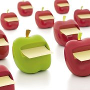 Post-it Pop-up Notes Dispenser for 3 in x 3 in Notes, Apple Shaped Dispenser