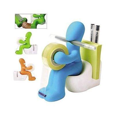 The Butt Station - Desk Accessory: Tape Dispenser Pen Memo Holder Clip Storage