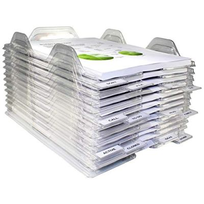 EZSTAX File Organizers - Letter Size, Stackable Trays for Desk - for Office Files