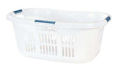 Rubbermaid FG299587WHTRB Laundry Basket, 2.1-Bushel