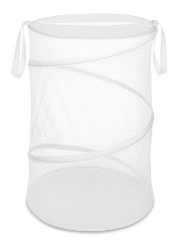 "Whitmor 18"" Collapsible Laundry Hamper White"