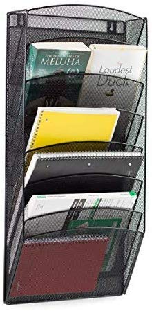Klickpick Office 8 Sections Hanging Files Wall Mounted Metal Mesh File Document