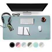 Dual-Sided Desk Pad Office Desk Mat, EMINTA Ultra Thin Waterproof PU Leather