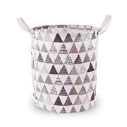 I&HE Large Laundry Basket, Triangle Pattern Laundry Hamper, Waterproof Collapsible Storage Basket
