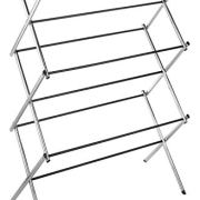 Whitmor 11-Bar Folding Clothes Top Shelf-Indoor and Outdoor-Chrome Drying Rack