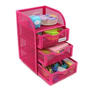 EasyPAG Mesh Desk Accessorie Organizer 3 Drawer Office Supplies Caddy