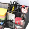 EasyPAG Mesh Desk Organizer Office Supplies Caddy 6 Compartments