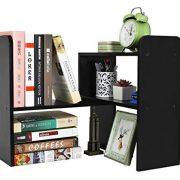 PAG Desktop Bookshelf Adjustable Countertop Bookcase Office Supplies Wood Desk