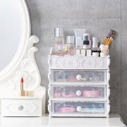 Fashion Plastic Cosmetic Drawer Container Makeup Organizer Box