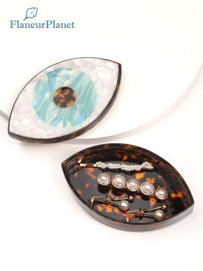Handmade Evil Eye Acetate Jewelry Box Eye Shaped