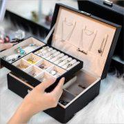 Large Jewelry Box Single/Double Dressing Chest Storage Box