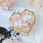 Flip Love Heart Shaped Geometric Glass Jewelry