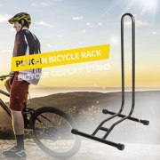 Coated Steel Display Floor Rack Bike L-type