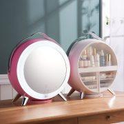 Organizer For Cosmetics Mirror 360 ° Rotating Rack Vip Link Led