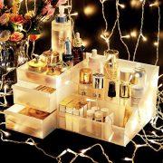 Large Capacity Drawer Makeup Organizer Jewelry Cosmetic Storage Box